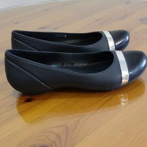 Crocs black shoes size 8M